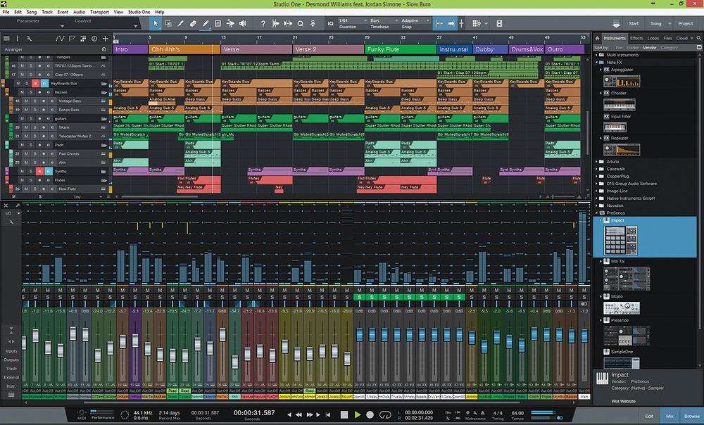 Toledo Recoding Studio - Presonus Studio One DAW